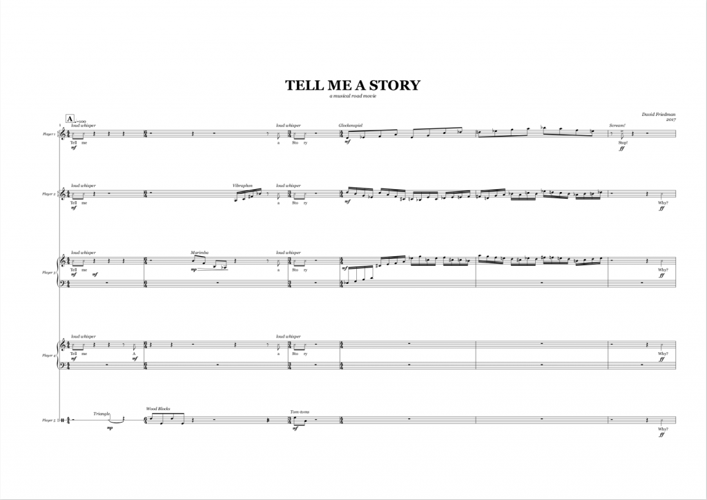 Tell Me A Story Sheet Music by David Friedman
